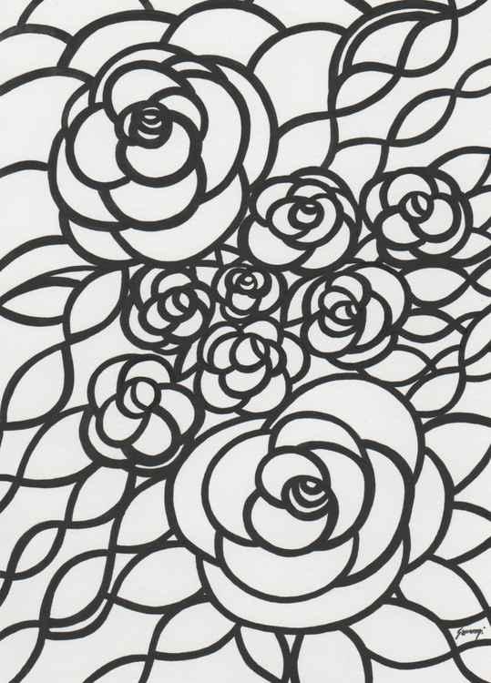 Roses in Black -