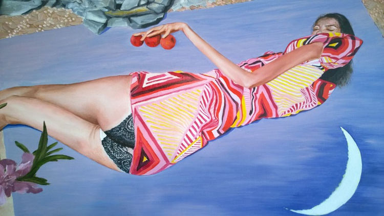 Nocturne, LARGE 40x32 inches 100x80cm Gallery Quality surrealistic linen cnavas - Image 0