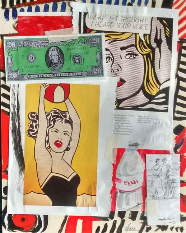 Lichtenstein collage.
