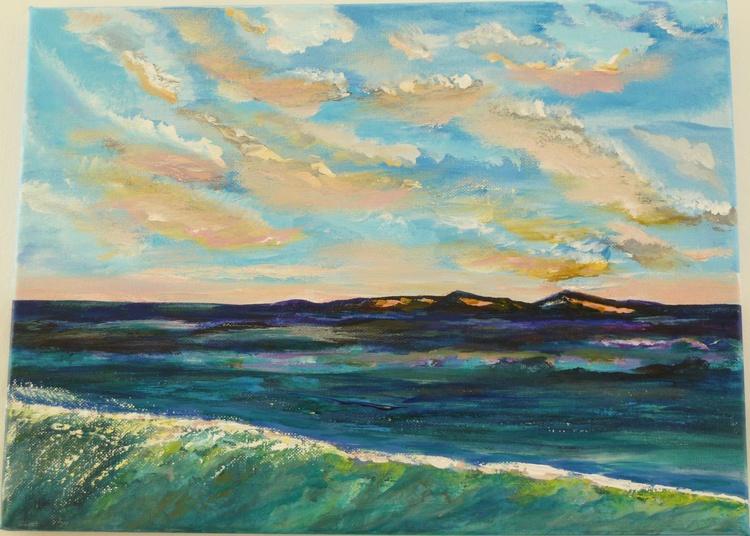 Sea at dusk - Image 0