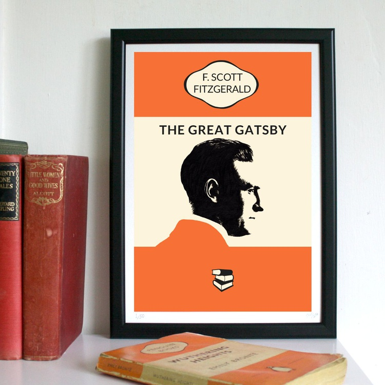 The Great Gatsby (A4, Framed) - Image 0