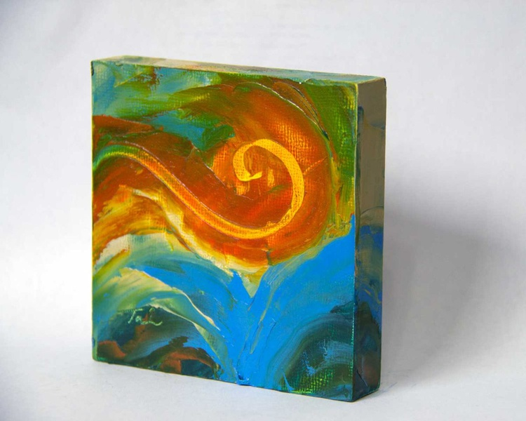 Amber Wave - miniature abstract - Image 0