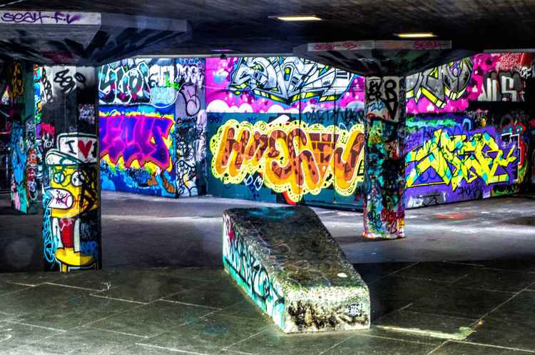 Skate park south bank London -
