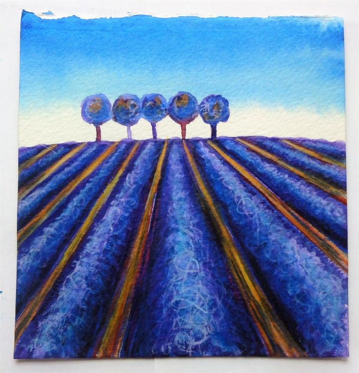 Lavender Field (5x5.5 in) - Image 0