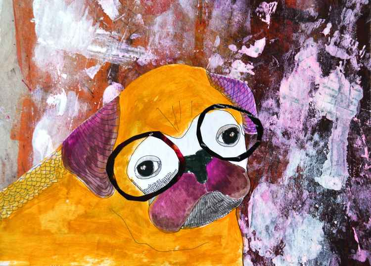 Hipster pug -