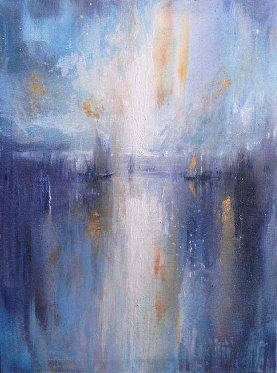 """Harbour of  destroyed dreams - Golden sail"" - Image 0"