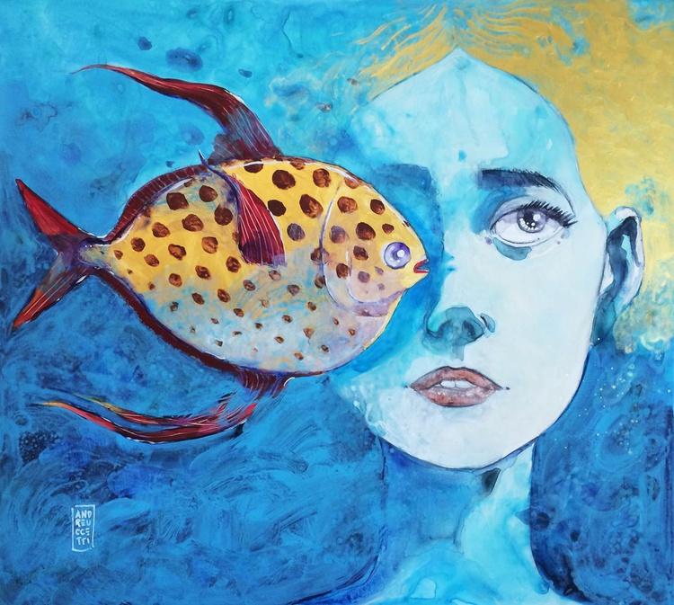 Il pesce (Re) innamorato (Kingfish is falling in love) - Image 0
