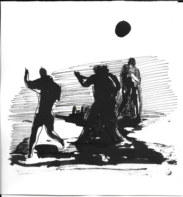 Dancing in the moonlight, 18x20 cm - Image 0