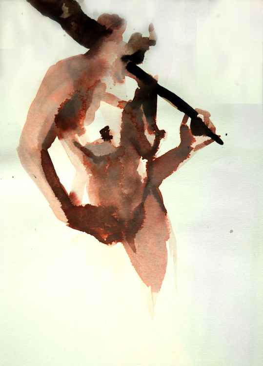 Nude with guitar -