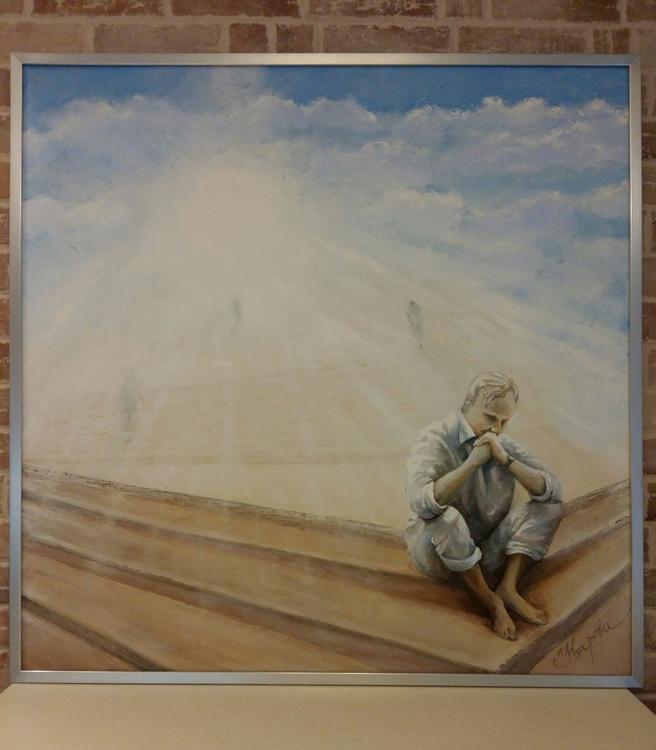 Time, 100×100 cm, large artwork, FREE SHIPPING - Image 0