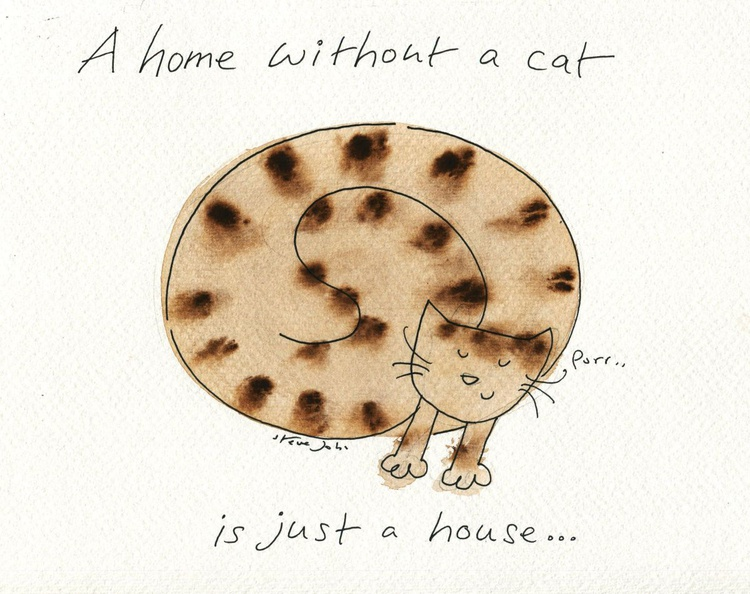 A home without a cat..... coffee colour design - Image 0