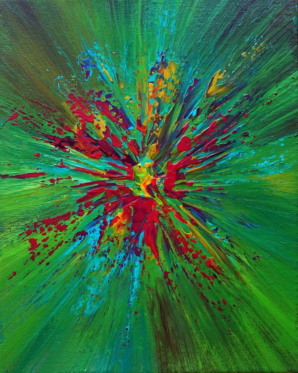 greenish multi color explosion artfinder