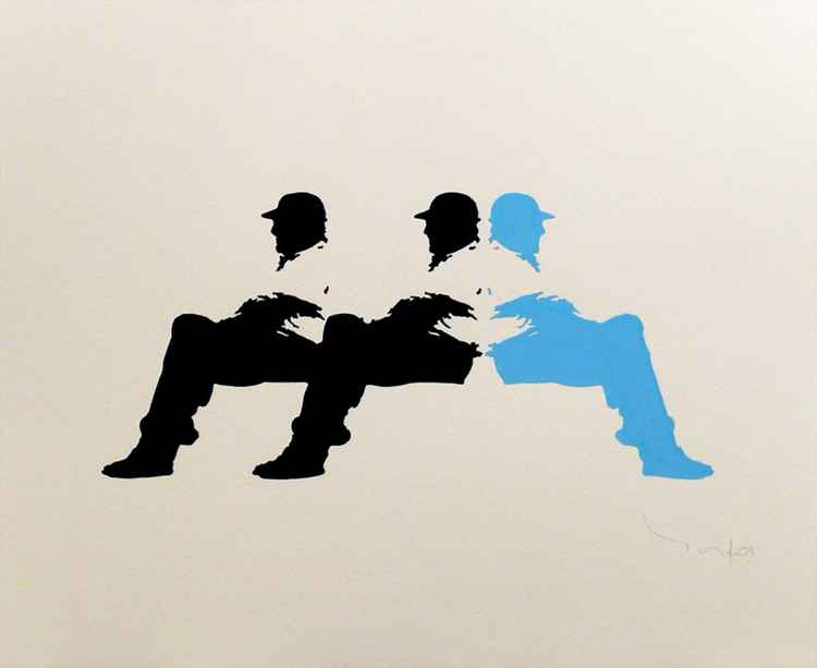 Three Men in a bench 03 -