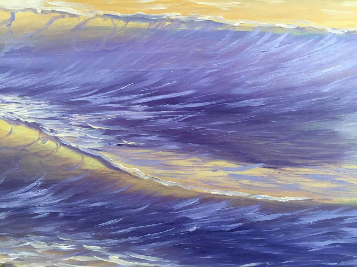 """Contemplating the Waves"" Large Seascape Painting ..."