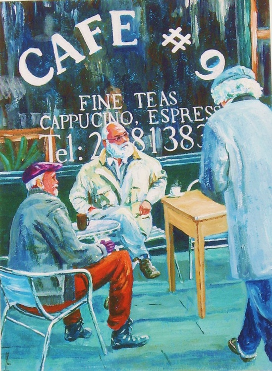Three Old Guys at the Cafe, Sheffield - Image 0