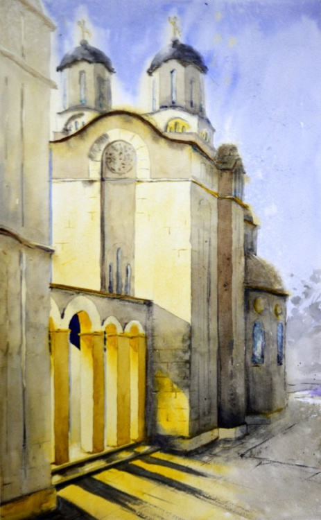 Light - original watercolor painting by Nenad Kojić - Image 0