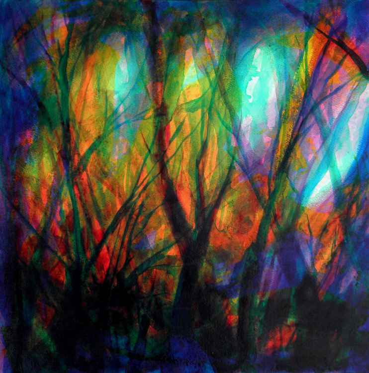 Abstract forest #6 - medium size - 51X51cm -