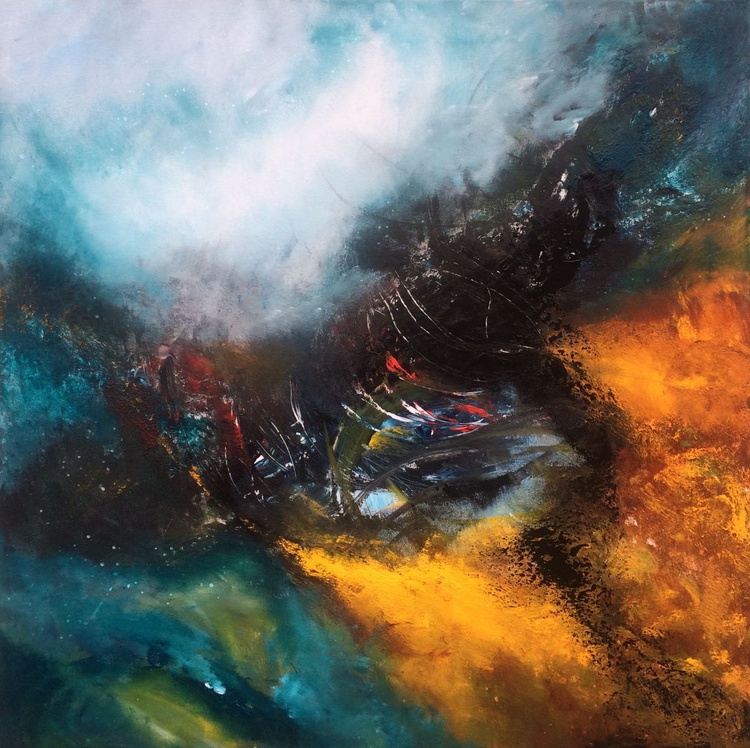 """""""Power of storm"""" Acrylic painting 70x70cm - Image 0"""