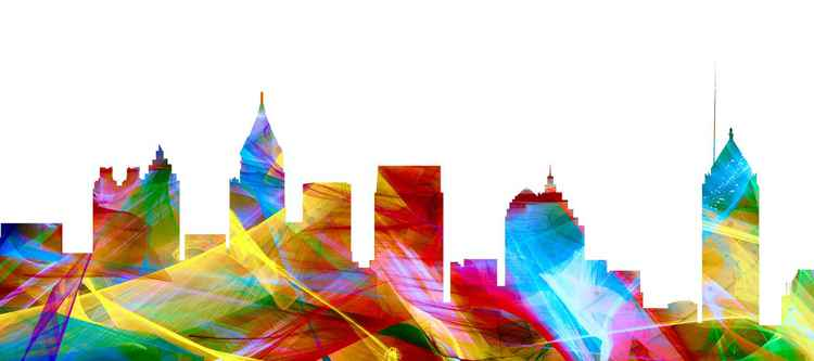 Atlanta Georgia Skyline - Vibrance