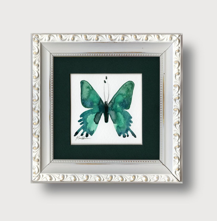 Shabby Chic Butterfly Watercolor Painting by Kathy Morton Stanion - Image 0