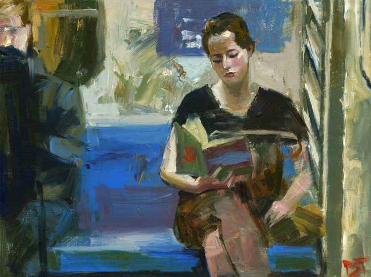 Women with Book -