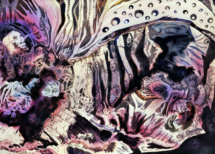Cave Painting no 5 - Image 0