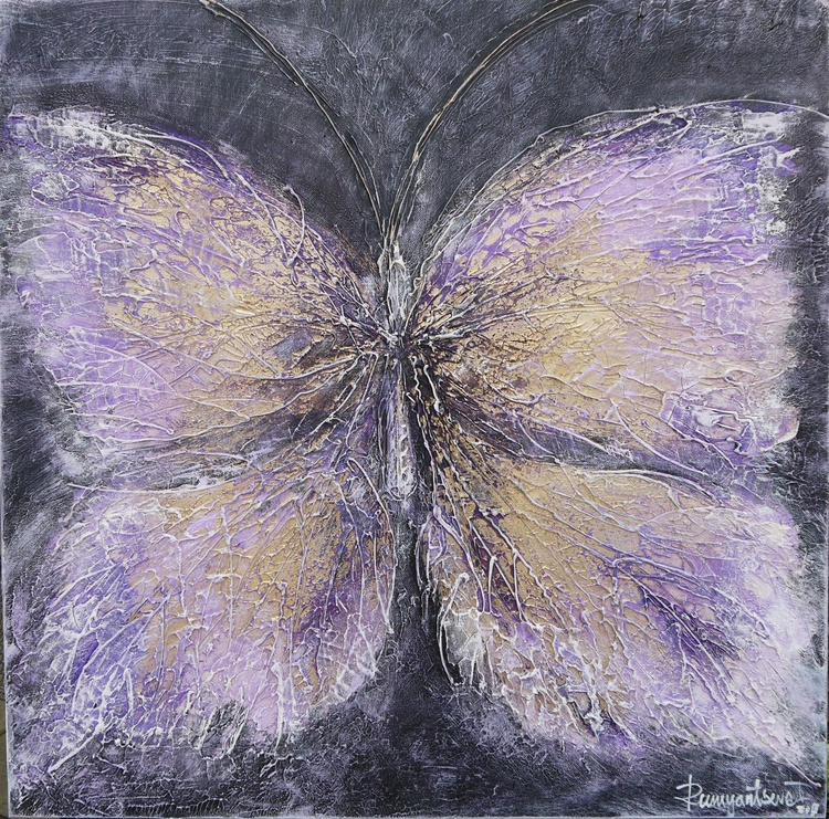 Butterfly 2 - 60cm x 60cm, ready to hang - Image 0