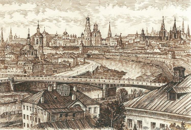 Moscow 19 century. 4 - Image 0
