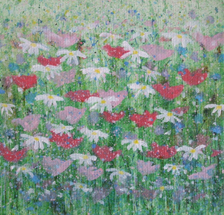 Pink Poppies and Daisies - Image 0