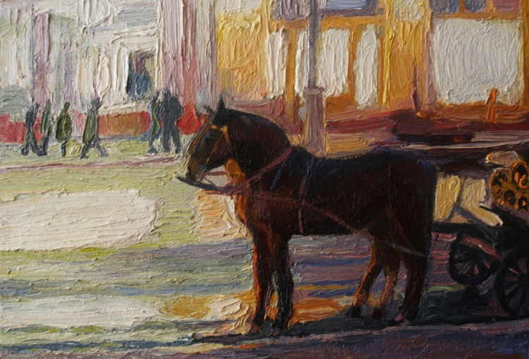 Evening horses - Image 0