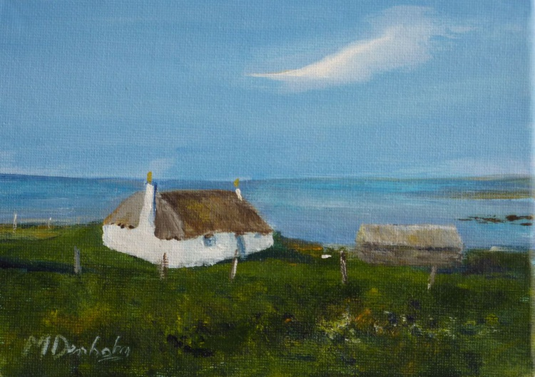 Thatched croft on N Uist - Image 0