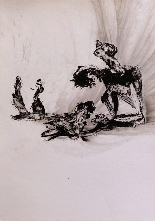 Rider of shadows, 29x42 cm - Image 0