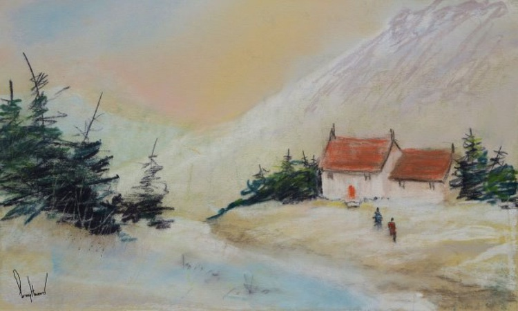 Winter Colours #2 - Original Pastel Painting - Image 0