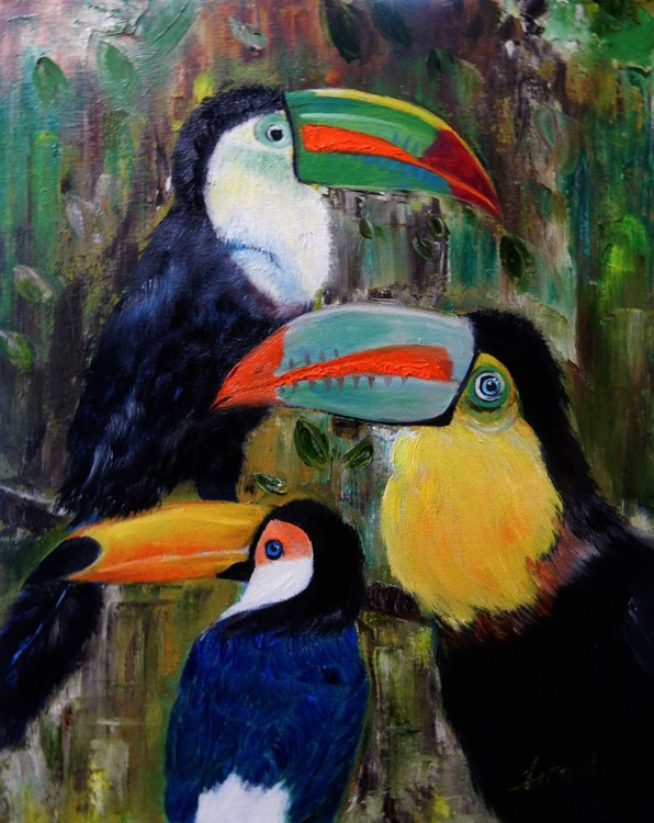 OP-013 Three Toucans - Image 0