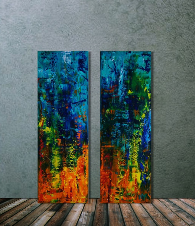 Carnival (Diptych: 2x  40 x 120 cm) - Image 0