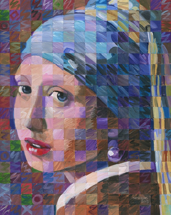 Girl With A Pearl Earring (Variation on Vermeer) - Image 0