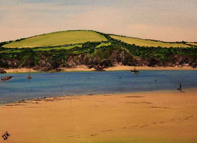 Waiting for the ferry across the Camel Estuary -
