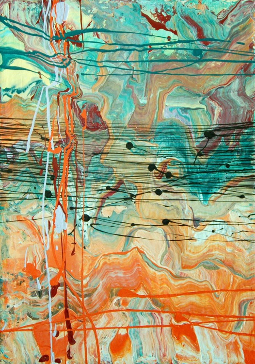 RHAPSODY IN TEAL AND ORANGE - Image 0