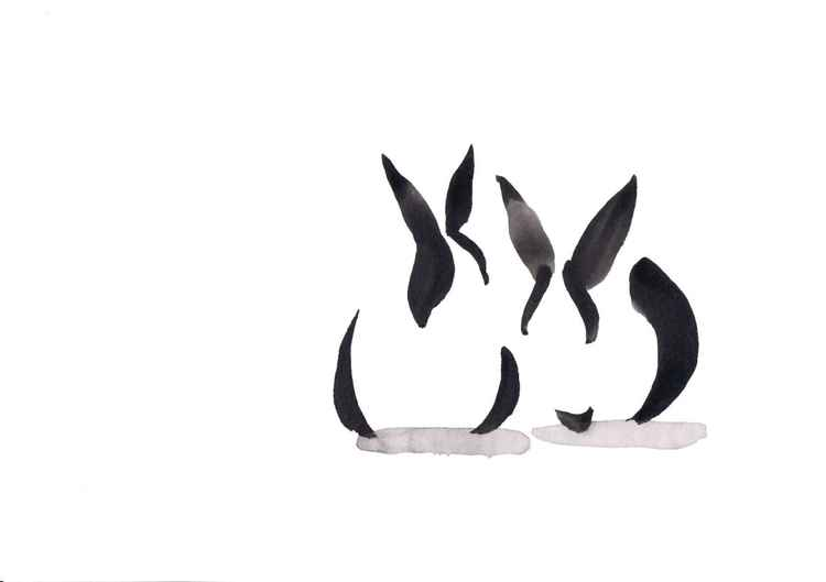 Two rabbits 3021A -