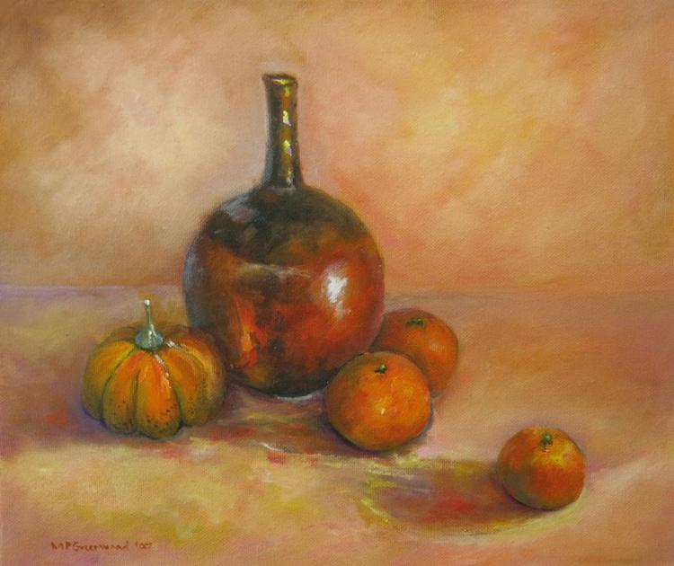 Bronze Pot and Fruit - Image 0
