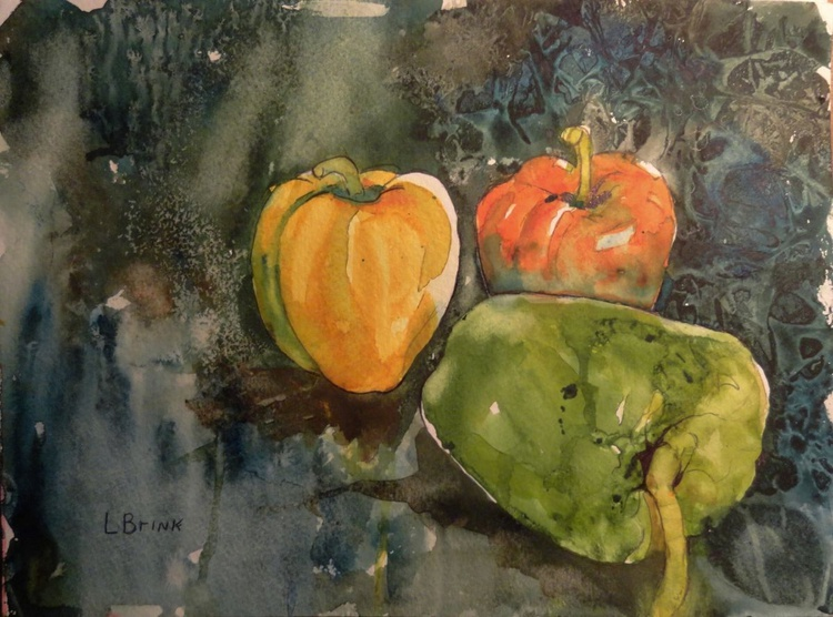 watercolor peppers - Image 0