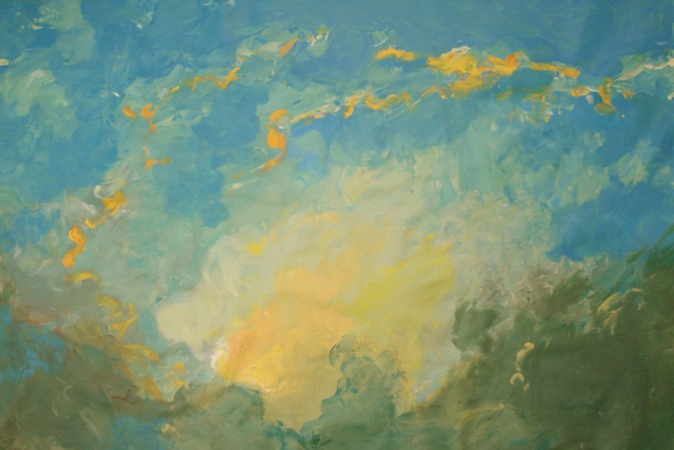 Abstract Landscape feet painting - Image 0