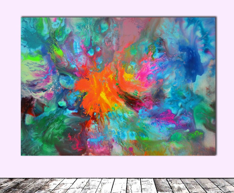 Perfect Balance III - Abstract Painting - Ready to Hang, Office, Home, Hotel and Restaurant Wall Decoration - Image 0