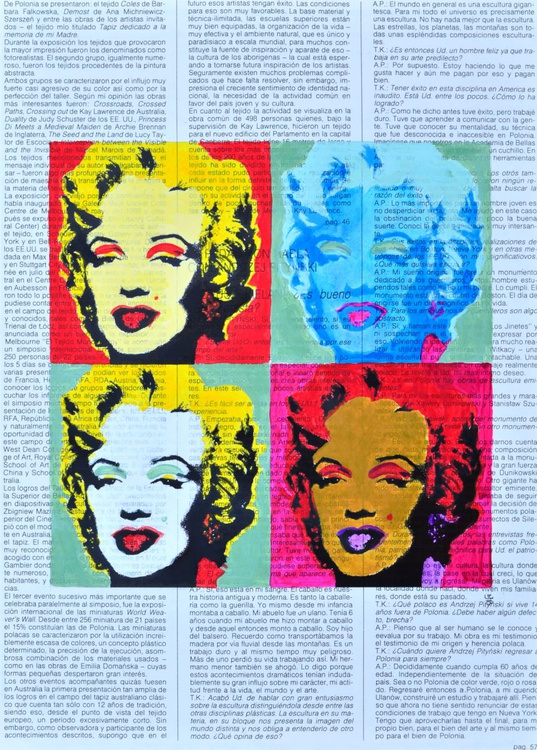 Andy Warhol's Marilyn On Vintage Paper - Image 0