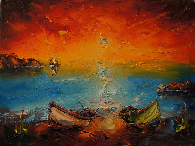 July, Oil Painting, free shipping - Image 0