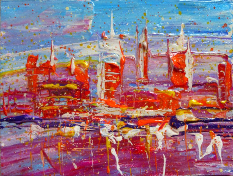 Abstract City, 20x15 cm - Image 0