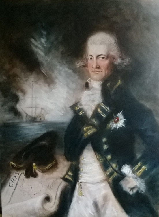 Lord Horatio Nelson (Oil on Canvas 40x30 inch) - Image 0