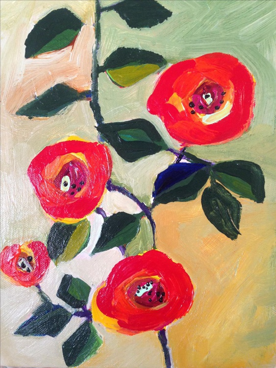 Climbing Rose 9 X 12 inch Canvas - Image 0