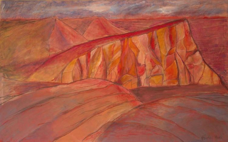 Mountain range at sunset. - Image 0