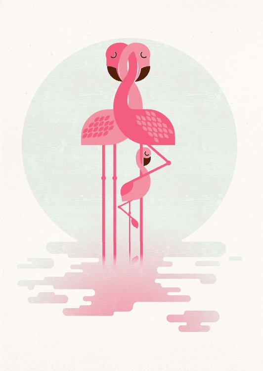 Flamingo and Chick - Image 0